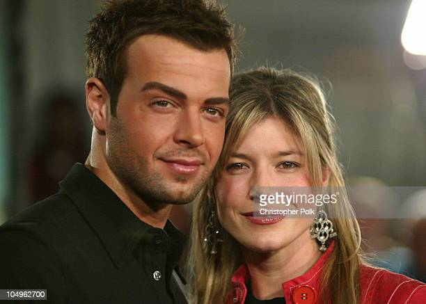 Joey Lawrence and Michelle Vella during Matrix Revolutions Los Angeles Premiere Arrivals at Walt Disney Concert Hall in Los Angeles California United...