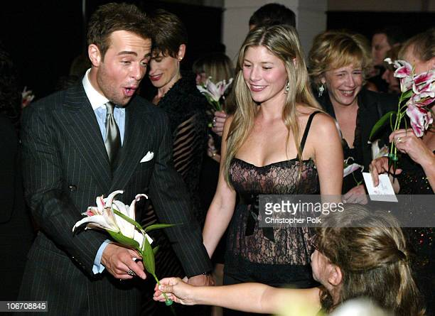 Joey Lawrence and Michelle Vella during The Lili Claire Foundation's 6th Annual Benefit Hosted by Matthew Perry Red Carpet Arrivals at The Beverly...