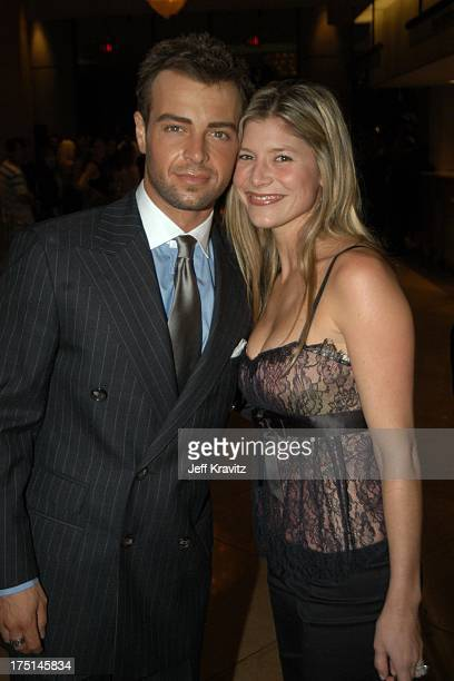 Joey Lawrence and wife Michelle Vella during The Lili Claire Foundation's 6th Annual Benefit Hosted by Matthew Perry Red Carpet Arrivals at The...