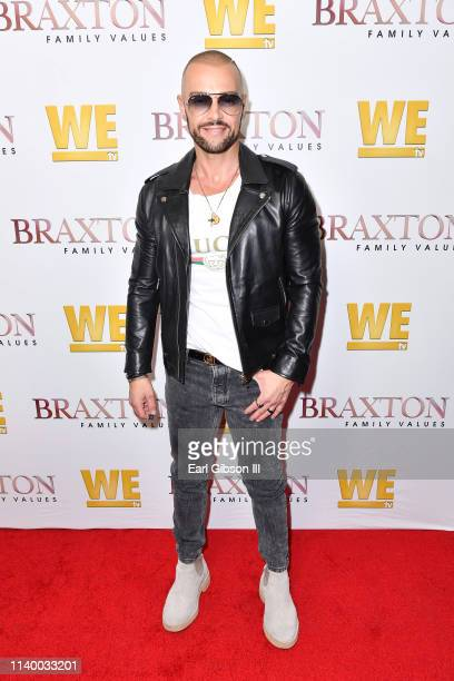 "Joey Lawrence is seen as We TV celebrates the premiere of ""Braxton Family Values"" at Doheny Room on April 02, 2019 in West Hollywood, California."