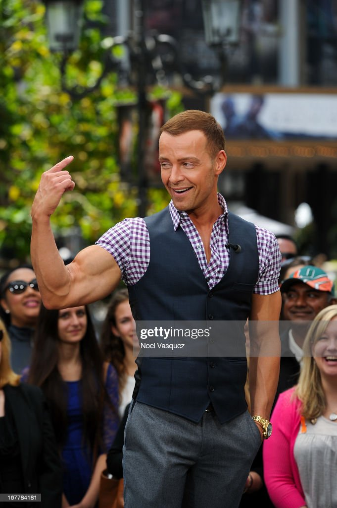 Joey Lawrence visits 'Extra' at The Grove on April 29, 2013 in Los Angeles, California.