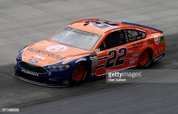 Joey Logano driver of the Autotrader Ford practices for the Monster Energy NASCAR Cup Series Food City 500 at Bristol Motor Speedway on April 22 2017...