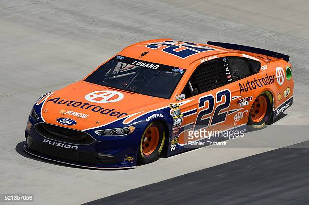 Joey Logano driver of the Autotrader Ford practices for the NASCAR Sprint Cup Series Food City 500 at Bristol Motor Speedway on April 14 2016 in...