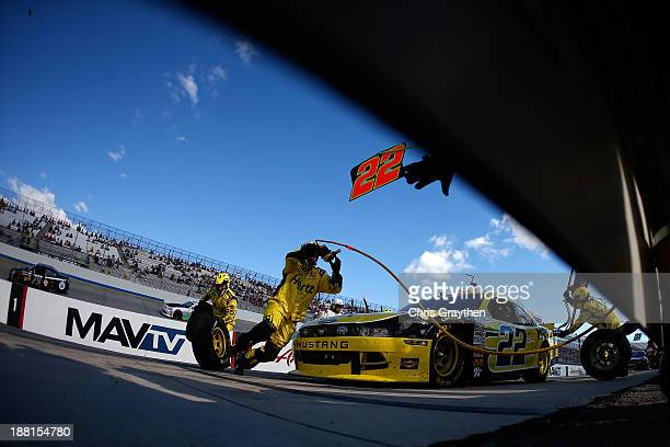 Joey Logano driver of the Hertz Ford during the NASCAR Nationwide Series 5Hour Energy 200 Benefiting Living Beyond Breast Cancer at Dover...