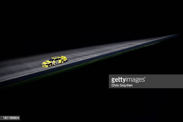 Joey Logano driver of the Hertz Ford races the NASCAR Nationwide Series 5Hour Energy 200 Benefiting Living Beyond Breast Cancer at Dover...