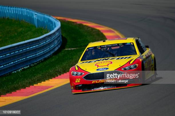 Joey Logano driver of the Shell Pennzoil Ford practices for the Monster Energy NASCAR Cup Series GoBowling at The Glen at Watkins Glen International...