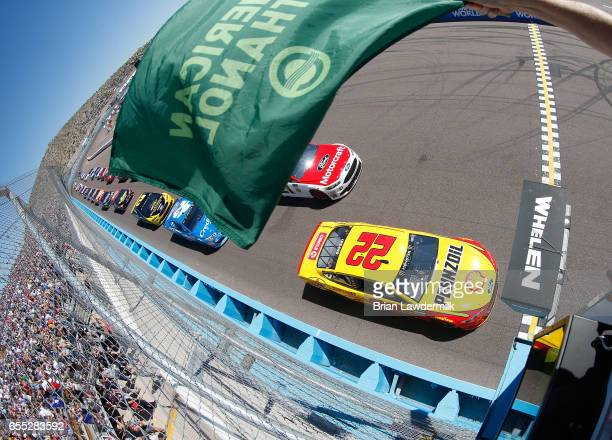 Joey Logano driver of the Shell Pennzoil Ford taks the green flag to start the Monster Energy NASCAR Cup Series Camping World 500 at Phoenix...