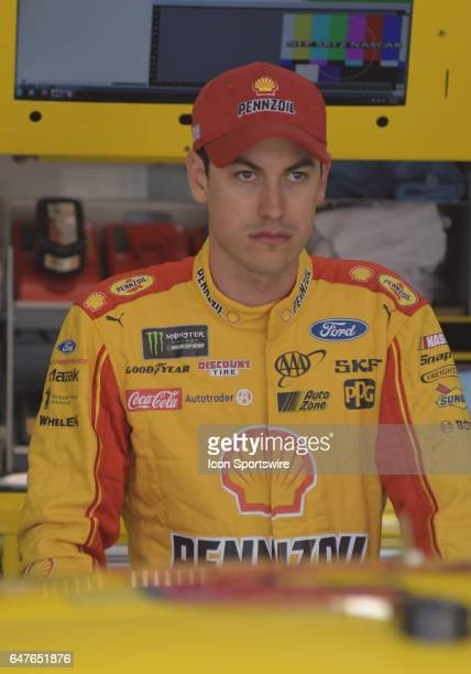 Joey Logano Penske Racing Shell/Pennzoil Ford Fusion during practice for the Monster Energy Cup Series Folds of Honor Quiktrip 500 on March 03 at...