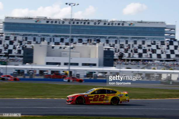 Joey Logano, Team Penske, Ford Mustang Shell Pennzoil during the running of the O'Reilly Auto Parts 253 at Daytona Beach International Speedway Road...