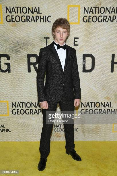 Joey Luthman attends the premiere of National Geographic's 'The Long Road Home' at Royce Hall on October 30 2017 in Los Angeles California