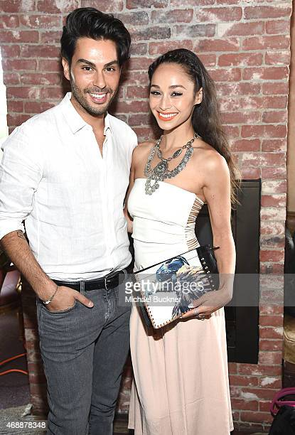 Joey Maalouf and Cara Santana attends The Glam App's Glamchella at the Petit Ermitage on April 7, 2015 in Los Angeles, California.