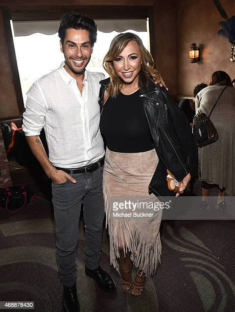 Joey Maalouf and Diana Madison attend The Glam App's Glamchella at the Petit Ermitage on April 7, 2015 in Los Angeles, California.