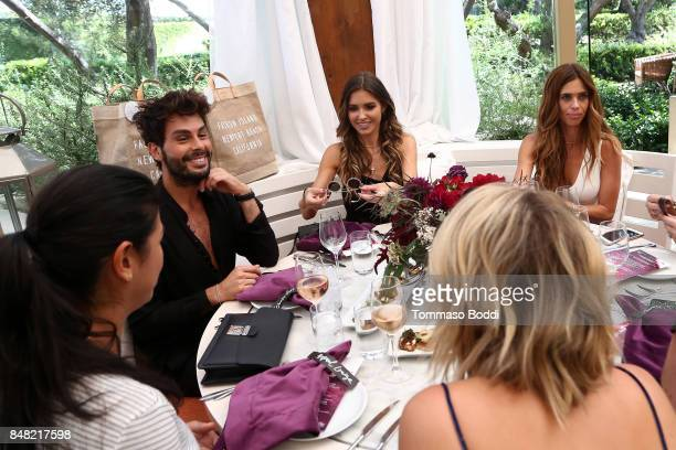 Joey Maalouf Audrina Patridge and Lydia McLaughlin attend the Fashion Island's StyleWeekOC Presented By SIMPLY on September 16 2017 in Newport Beach...
