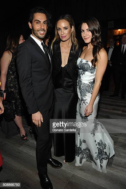 Joey Maalouf Catt Sadler and Lauren Gores Ireland attend the PSLA Winter Gala on February 6 2016 in Beverly Hills California