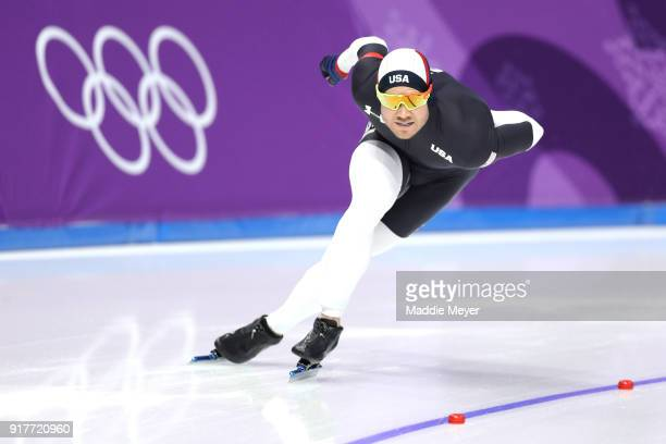 Joey Mantia of the United States competes during the Men's 1500m Speed Skating on day four of the PyeongChang 2018 Winter Olympic Games at Gangneung...