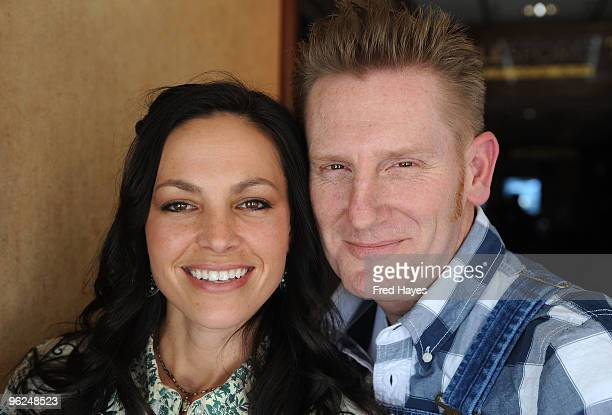 Joey Martin and Rory Feek of Joey + Rory attend Music Cafe - Day 7 during the 2010 Sundance Film Festival at Stanfield Gallery on January 28, 2010 in...