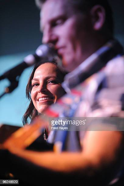 Joey Martin and Rory Feek of Joey + Rory perform at Music Cafe - Day 7 during the 2010 Sundance Film Festival at Stanfield Gallery on January 28,...