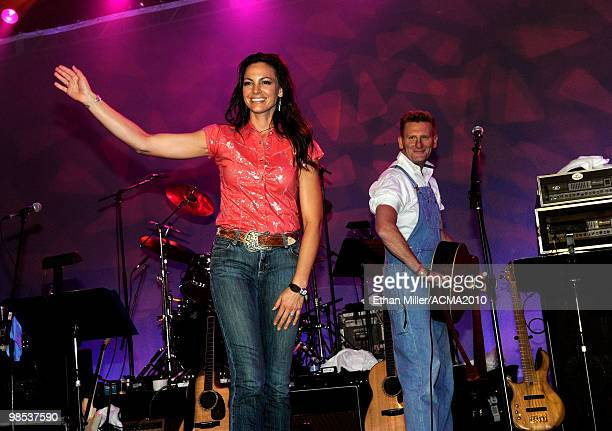 Joey Martin and Rory Feek of the band Joey Rory perform onstage at the 45th Annual Academy of Country Music Awards All Star Jam at the MGM Grand...