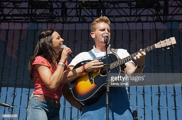 Joey Martin Feek and Rory Feek of Joey & Rory perform at the 2010 Stagecoach Music Festival at the Empire Polo Club on April 24, 2010 in Indio,...