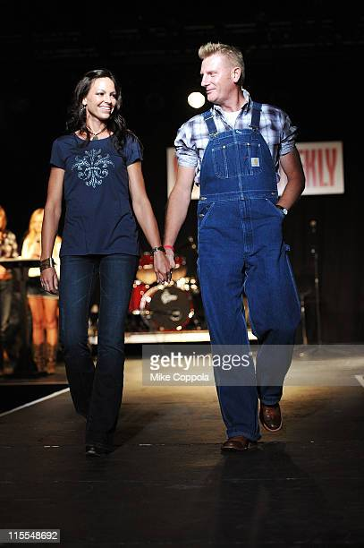 Joey Martin Feek and Rory Lee Feek of Joey+Rory attend Country Weekly's 5th annual fashion show & concert at Rocketown on June 7, 2011 in Nashville,...
