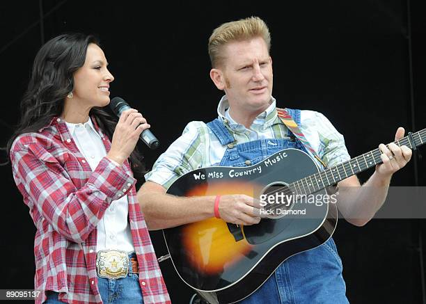 Joey Martin Feek and Rory Lee Feek of singer/Songwriter duo Joey Rory perform at the 17th Annual Country Thunder USA music festival on July 18 2009...