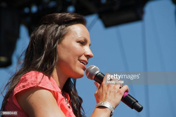 Joey Martin Feek of Joey & Rory performs at the 2010 Stagecoach Music Festival at the Empire Polo Club on April 24, 2010 in Indio, California.