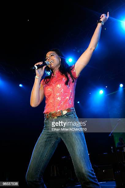 Joey Martin of the band Joey + Rory performs onstage at the 45th Annual Academy of Country Music Awards All Star Jam at the MGM Grand Hotel/Casino on...