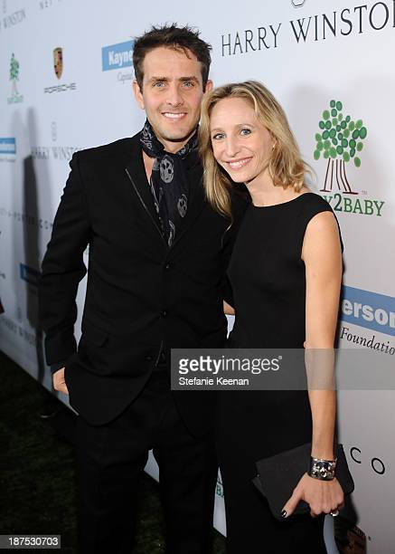 Joey McIntyre and Barrett Williams attend the second annual Baby2Baby Gala honoring Drew Barrymore at Book Bindery on November 9 2013 in Culver City...