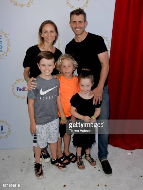 Joey McIntyre and family attend the Safe Kids Day at Smashbox Studios on April 23 2017 in Culver City California