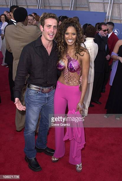 Joey McIntyre and Traci Bingham during 43rd Annual Grammy Awards at Staples Center in Los Angeles California United States