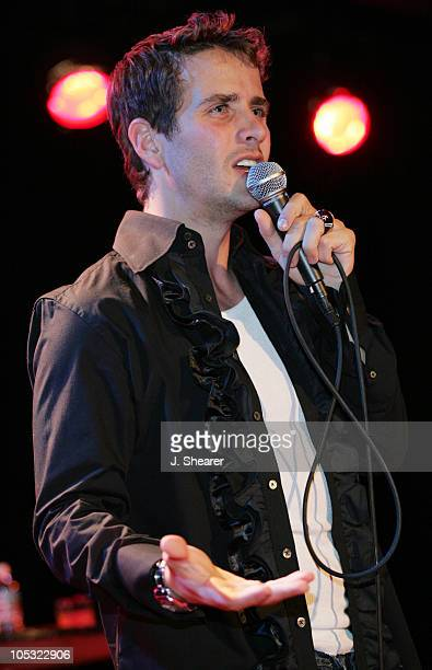 Joey McIntyre during Joey McIntyre '809' Tour at the Knitting Factory May 27 2004 at The Knitting Factory in Hollywood California United States