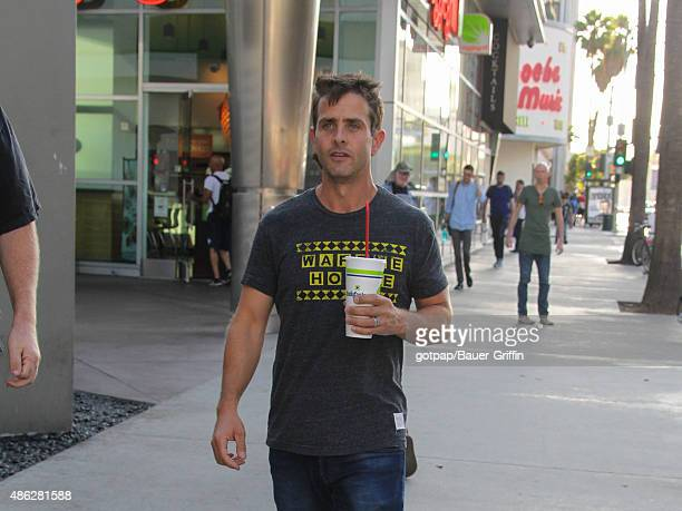 Joey McIntyre is seen signing autographs on September 02 2015 in Los Angeles California