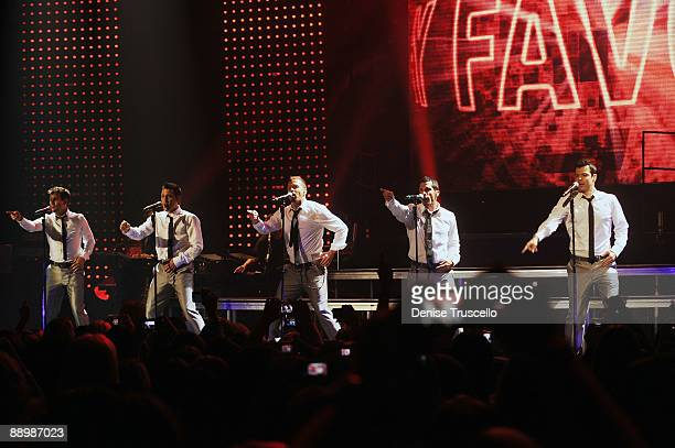 Joey McIntyre Jonathan Knight Donnie Wahlberg Danny Woods and Jordan Knight of New Kids On The Block perform at The Pearl at The Palms Casino Resort...