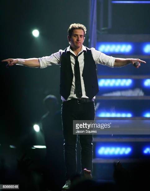 Joey McIntyre of New Kids On The Block performs at Sprint Center on November 11 2008 in Kansas City Missouri