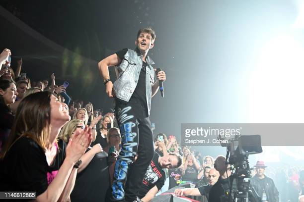 Joey McIntyre of New Kids On The Block performs at US Bank Arena on May 02 2019 in Cincinnati Ohio