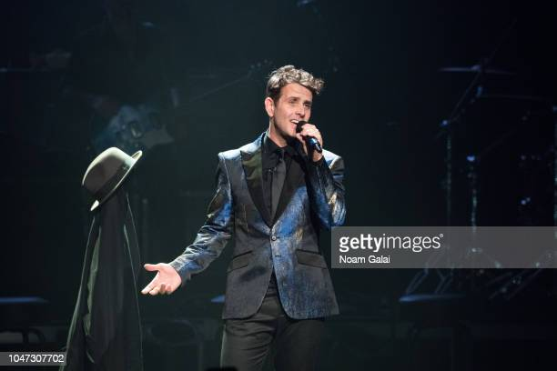Joey McIntyre of New Kids On The Block performs in concert celebrating the 30th anniversary of 'Hangin Tough' at The Apollo Theater on October 7 2018...