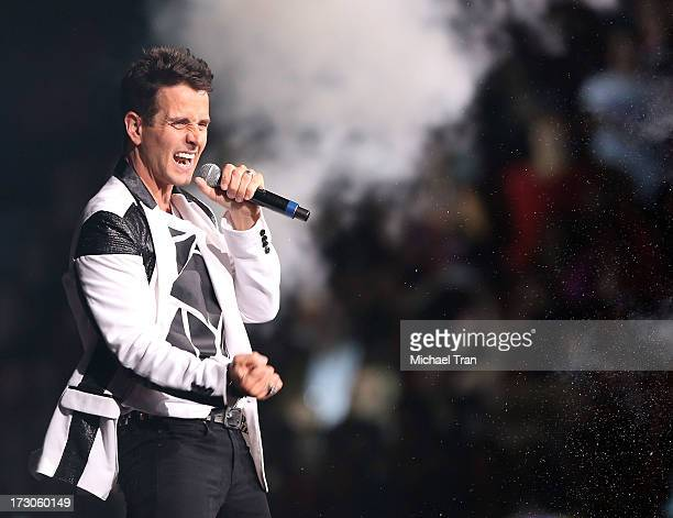 Joey McIntyre of New Kids On The Block performs onstage during 'The Package Tour' held at Staples Center on July 5 2013 in Los Angeles California