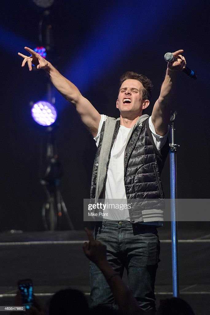 Joey McIntyre of the New Kids On The Block perform at the Gramercy Theatre on February 15, 2015 in New York City.