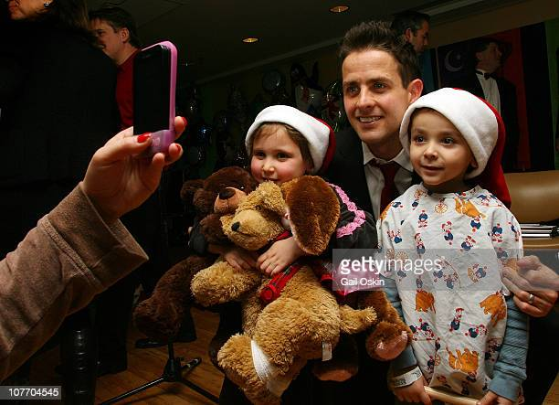 Joey McIntyre visits patients at Children's Hospital Boston on December 20 2010 in Boston Massachusetts