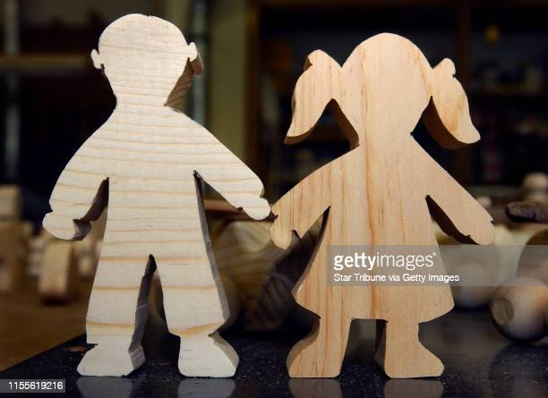 Joey McLeister/Star Tribune St Louis ParkMnThursJune 3 2004Silhouettescutouts of boys and girls are some of the many toys the woodcrafters at the...