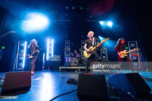 Joey Morrow Anthony Sonetti Josh Katz and Alex Espiritu of Badflower perform at El Rey Theatre on February 22 2019 in Los Angeles California