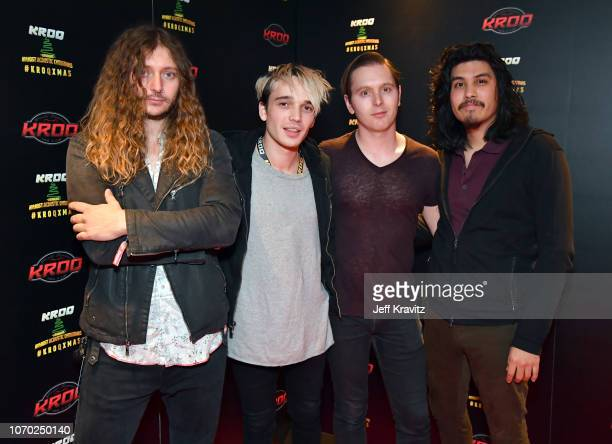 Joey Morrow Josh Katz Anthony Sonetti and Alex Espiritu of Badflower pose during KROQ Absolut Almost Acoustic Christmas 2018 at The Forum on December...