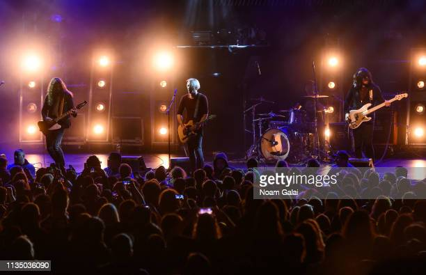 Joey Morrow Josh Katz Anthony Sonetti and Alex Espiritu of Badflower perform during 'The Truth Tour' at PlayStation Theater on March 10 2019 in New...