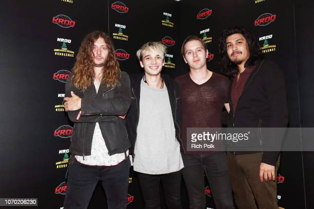 Joey Morrow Josh Katz Anthony Sonetti and Alex Espiritu of the band Badflower attend the KROQ Absolut Almost Acoustic Christmas at The Forum on...