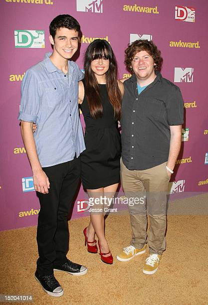 Joey Pollari Alex Frnka and Zach Pearlman attend MTV's Awkward Season 2 Finale Event at The Colony on September 10 2012 in Los Angeles California