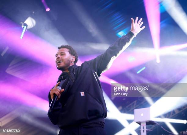 Joey Purp performs onstage on day 3 of FYF Fest 2017 at Exposition Park on July 23 2017 in Los Angeles California