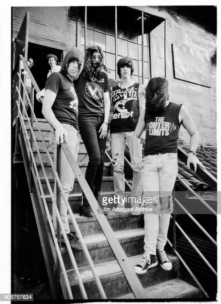 Joey Ramone Johnny Ramone Dee Dee Ramone Marky Ramone Godfathers of punk rock The Ramones at the Masquerade club June 11 1991 in Atlanta Georgia