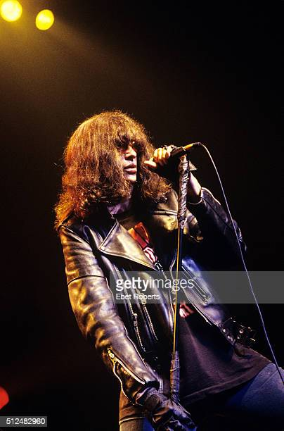 Joey Ramone performing with the Ramones at The Academy in New York City on August 5 1995