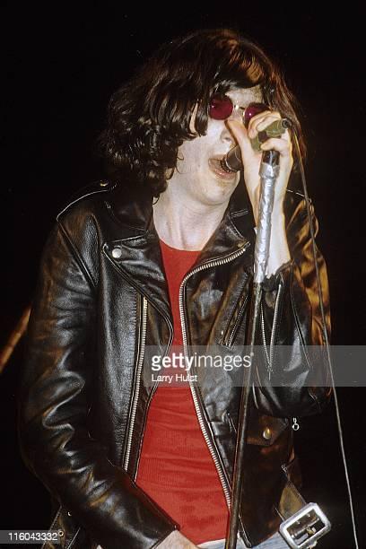 Joey Ramone performing with 'the Ramones' at the University of California in Stockton, California Circa January 1, 1985.