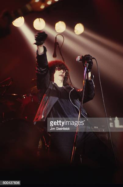 Joey Ramone performs with the Ramones at First Avenue nightclub in Minneapolis Minnesota on July 27 1986